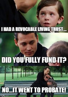 Avoid a probate and fully fund your #revocablelivingtrust  #estateplan #myredbook #lessinglaw  www.lessinglaw.com