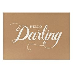 Hello darling sign for bedroom