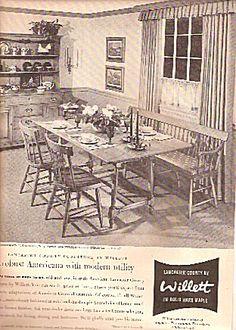 Willett hard maple furniture ad 1958 (Image1)
