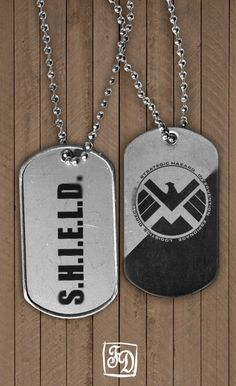 Pendant  SHIELD  Marvel  the Avegers  dog tag by FeerieDoll, $6.00