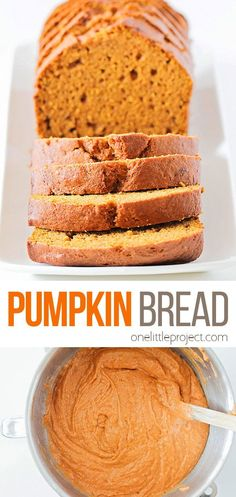 This soft and tender pumpkin bread has the most delicious pumpkin spice flavor, and is the perfect treat for a crisp fall day! Easy Cake Recipes, Fudge Recipes, Bread Recipes, Cookie Recipes, Snack Recipes, Snacks, Pumpkin Bread, Pumpkin Spice, Cupcake Cakes