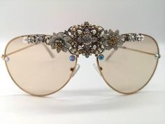Exclusive one of a kind pieces from Alexis Vintage by AlexisExclusive Bride Accessories, Handmade Accessories, Festival Sunglasses, Rave Mask, Bridal Gifts, Black Sequins, Lady, Lenses