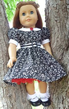 18 Doll Clothes 1940's1950's Style Party Dress by Designed4Dolls - not a pattern, but LOVE the idea!