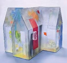 Therman Statom (bio)    Gravity(2007)  Processes : Glass, Cut, Laminated, Painted  17 x 12 x 17 inches  Habatat Galleries