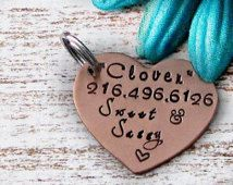 Hand Stamped Personalized Copper Pet Dog ID Tag - Sweet and Sassy, funny dog tags, cute dog tags Cute Dog Tags, Dog Id Tags, Pet Dogs, Pets, Havanese, Funny Dogs, Hand Stamped, Pet Supplies, Sassy