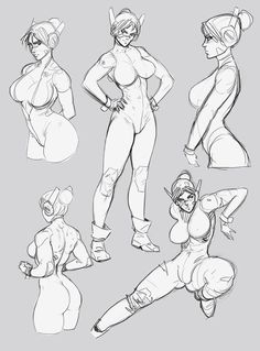 Large Bust Forms and Positions by Art Poses, Drawing Poses, Manga Drawing, Drawing Sketches, Art Drawings, Figure Sketching, Figure Drawing, Poses References, Anatomy Art