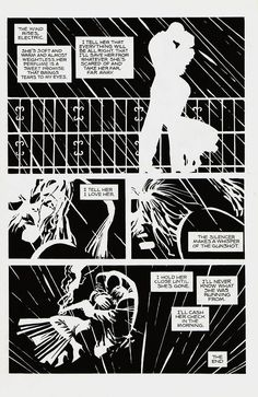 From Sin City, I love how the internal dialogue and how it sets the tone of the whole page.