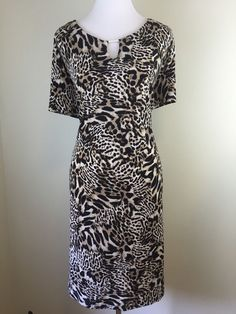 Calvin Klein Leopard Print Short Sleeve Knee Length Dress Plus Size 3X | eBay