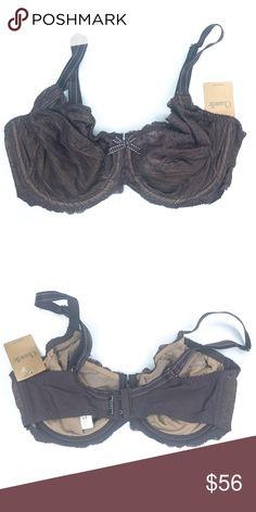 1859e61a19 Chantelle Brown Mesh Lace Bra Chantelle Brown Mesh Lace Bra. Features- Rich  brown color