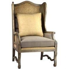Tall, cane back chair
