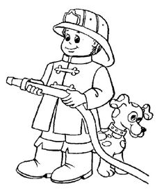 fireman coloring page fireman party pinterest feuerwehr polizei und vorschule. Black Bedroom Furniture Sets. Home Design Ideas