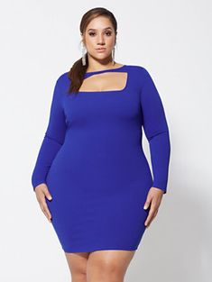 adf2b213cee0e6 Shop Lynne Cut-Out Detail Bodycon Dress. Find your perfect size online at  the. Fashion to Figure
