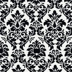 Black and White Damask Wallpaper - Bing images Damask Decor, Damask Stencil, Damask Wallpaper, Stencil Patterns, Damask Cake, Damask Party, Damask Patterns, Wallpaper Samples, White Damask