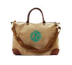 So Cute!! Tan Double Handle Long Arm Over by monogrammedmemories on Etsy, $29.95