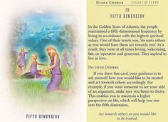 Today's Atlantis Card – Diana Cooper