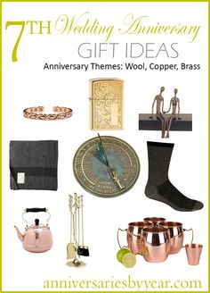 The wedding anniversary is known as the copper anniversary or wool anniversary. Modern day gifts like brass are also given to celebrate the anniversary. 7 Year Anniversary Gift, Copper Anniversary Gifts, 7th Wedding Anniversary, In China, Copper Gifts, Copper Wedding, Copper And Brass, Wool, Gift Ideas