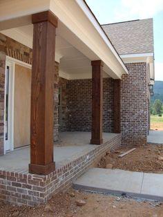 cedar columns - will only cost around $150 to make 3 to update my 1970's porch.****CHUNKY CEDAR COLUMNS****
