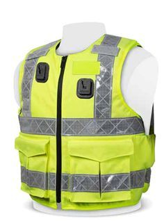 CYCLE 4 Pocket Yellow, L//XL MOTORCYCLE SECURITY AND WATER RESISTANT HI VIZ VEST WAISTCOAT