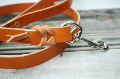 Braided dog leash by HunterPassLeather on Etsy, $58.00