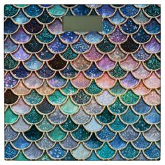 Multicolor Pink And Aqua Mermaid Scales - Beautiful Abstract Glitter Pattern Acrylic Box by betterhome Mermaid Tile, Mermaid Glitter, Mermaid Scales, Sparkles Glitter, Mermaid Bathroom, Fish Scales, Glitter Uggs, Glitter Grout, Glitter Eyeliner