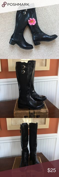 Black Boots 💕💕 💕 Aigner Black Boots EUC ! Worn only once. Very comfy!  1 1/2 in heel. Etienne Aigner Shoes Heeled Boots