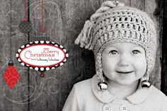 "PATTERN: ""Jingle Bell Rock"" Crocheted Hat, 6-12mo"
