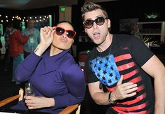 a119abb41440 Jordin Sparks and Lance Bass had some sunwear fun at the American Music  Awards! Vibrant