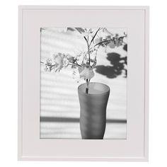 hampton contours frame white 11x14