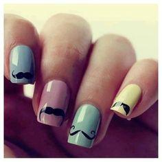 #DIY Mustache #Nails