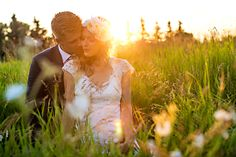 edmonton bohemian/country backyard wedding. sunset bridal portraits
