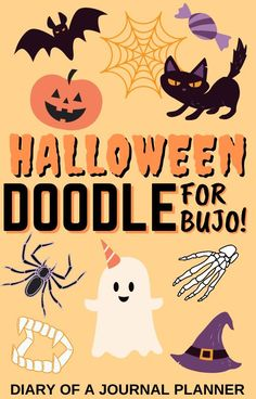 Planning out your October Bullet journal? Don't skip these super cute halloween doodle ideas! #halloween #halloweenbulletjournal #halloweendoodles #bulletjournal #doodles #bulletjournaldoodles Happy Doodles, Free Doodles, Simple Doodles, Cat Doodle, Doodle Sketch, Doodle Drawings, Halloween Doodle, Halloween Drawings, Amazing Halloween Costumes
