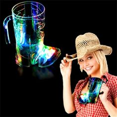 Opulent Promotional Items Company from Brooklyn NY USA. Pique anyone's curiosity with this clear cowboy boot mug. This cowboy boot shaped mug is made of clear food- grade acrylic, had several bright colored LED lights for a rainbow effect, several light modes to choose from, and batteries are included. Pad printing is available for company logos or messages. This is a great product to build brand awareness at your restaurant, bar, nightclub, or lounge. Grab a frosty boot mug today!