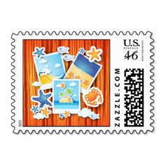 Holiday memories, #postage by PinkHurricane #Zazzle store :)