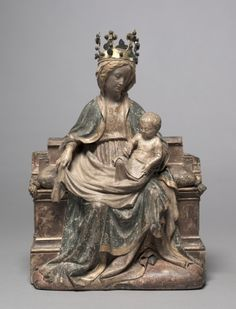 Enthroned Virgin with the Writing Christ Child, c. 1400 Franco-Netherlandish, active Paris(?), 15th century