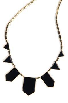 romwe.com Black Collar Geometry Irregular Pendant Necklace 2.99