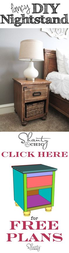 Free Printable Plans to build the DIY Nightstand with Bun Feet! Love these!!