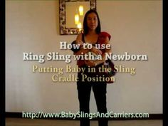How to put newborn in a Ring Sling Cradle Carry Position