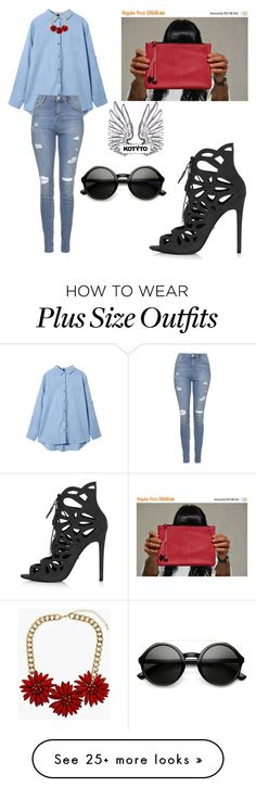 """""""KOTYTOstyleLAB Clutch"""" by tania-alves on Polyvore featuring Topshop, women's clothing, women, female, woman, misses and juniors"""