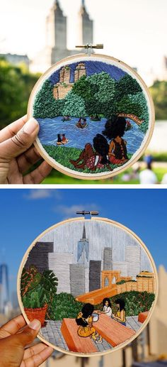 Embroidery by Vesha Parker #hoopart #embroideryart #craft