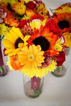 BonnieProjects: DIY Fall Wedding Bouquets