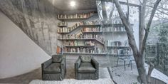 Archi-Union Architects designed the Tea House in the backyard of their office in Shanghai, China.