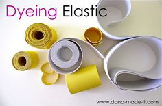 TUTORIAL: Dyeing Elastic | MADE      life made easier since white elastic is available everywhere