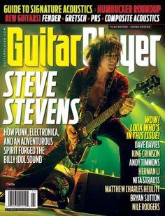 Steve Stevens - Guitar Player Magazine Cover [United States] (January 2015)