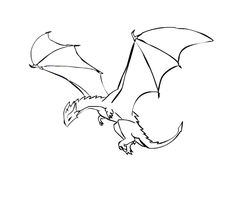 A dragon flying animation Animation Reference, Art Reference, Fantasy Creatures, Mythical Creatures, Simple Dragon Drawing, Dragon Tattoo Design Simple, Fly Drawing, Dragon Sketch, Anime Wolf