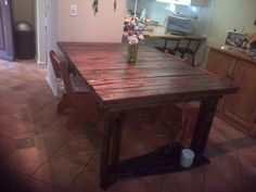 Dining room table Dining Room Table, Rustic, Furniture, Home Decor, Country Primitive, Dining Table, Decoration Home, Room Decor, Retro
