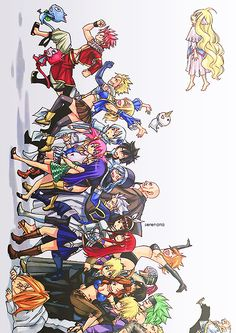 Fairy Tail look at this picture closely, and you can see everyone's personality. (And some other fun stuff)