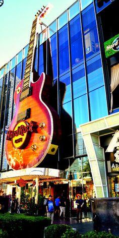 Hard Rock Cafe, Las Vegas.  I've eaten at several Hard Rick Cafe's, but not the one in Vegas. - KLW