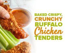 Baked Crispy, Crunchy Buffalo Chicken Tenders