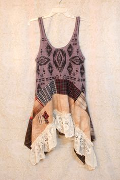 REVIVAL Boho Shirt,  Bohemian Junk Gypsy Style,  Lagenlook, Cowgirl Country Girl Chic, Tribal Free People Style, Anthropologie Inspired, Coachella Music Festival Shirt