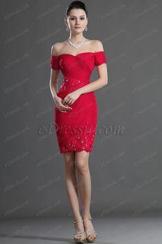 eDressit  Red Off Shoulder Lace Cocktail Dress Party Dress (04124202)